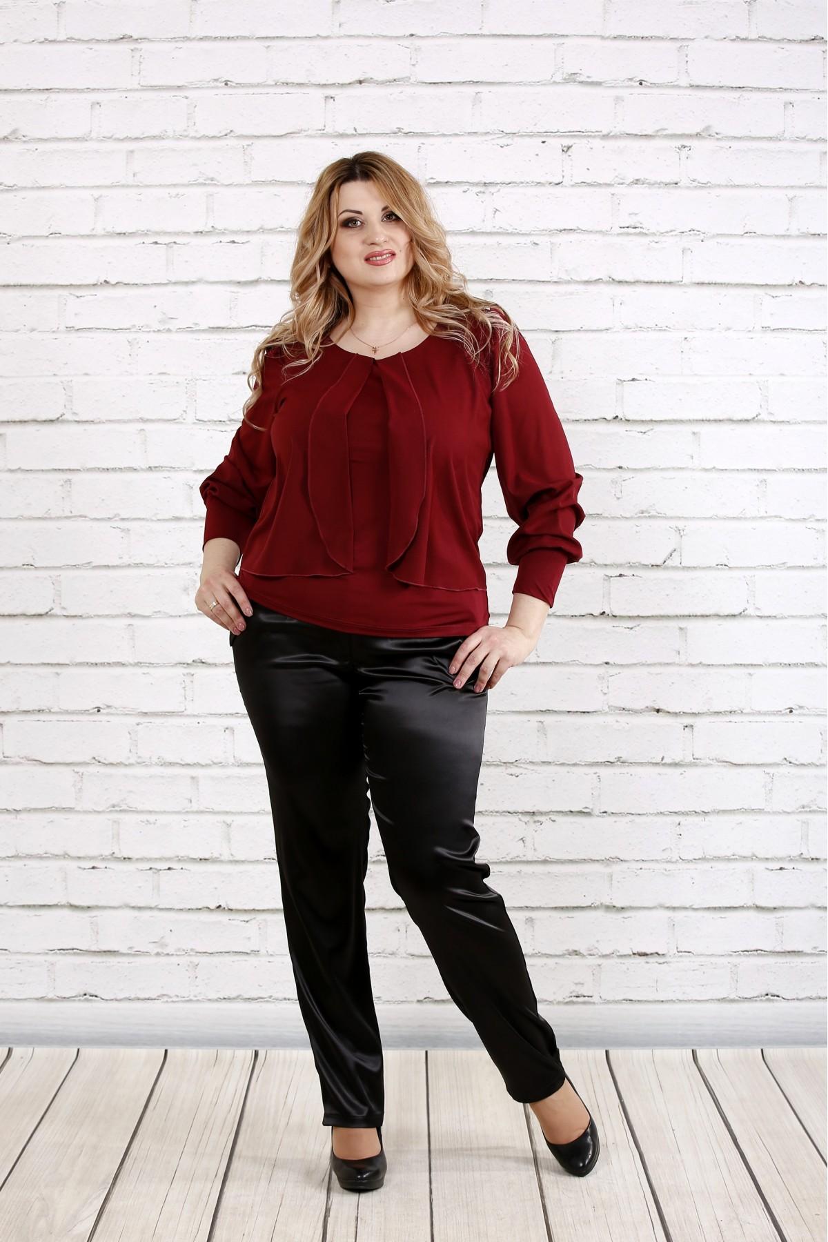 Бордовая блузка | 0763-2