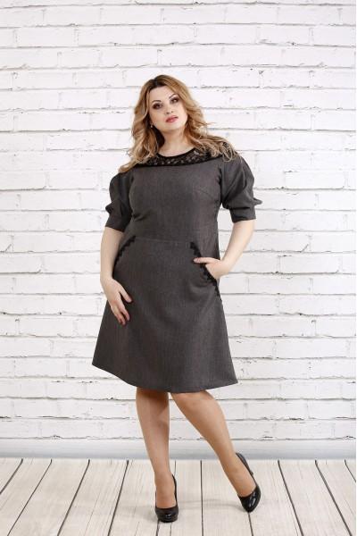 Платье расклешенное к низу | 0773-1