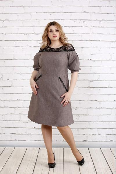 Платье цвета мокко | 0773-3
