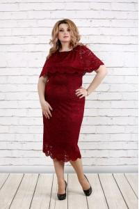 Нарядное платье бордо | 0778-2