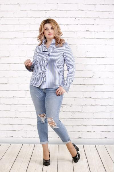 Голубая полосатая блузка | 0793-2