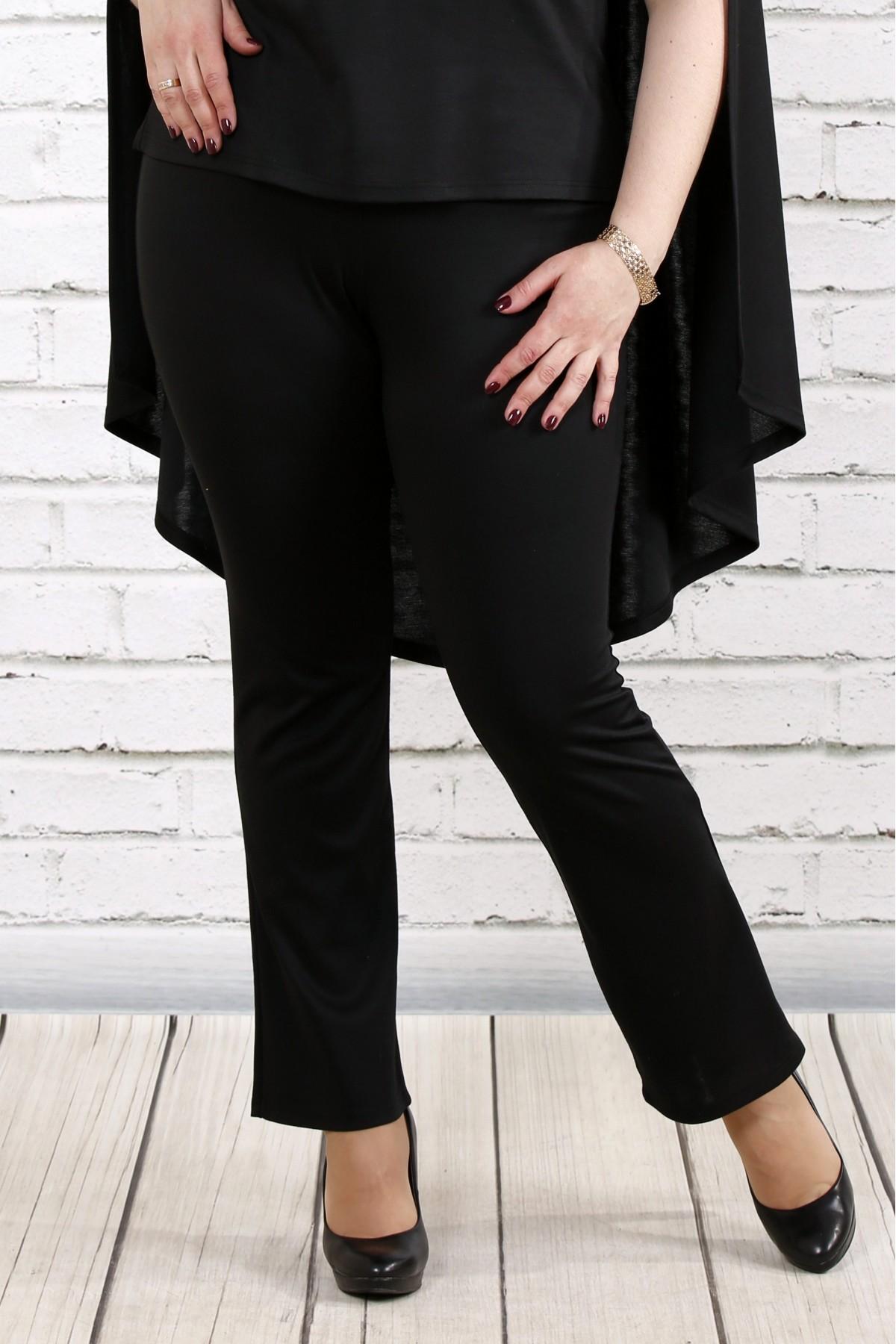 Черные трикотажные брюки   b037-1