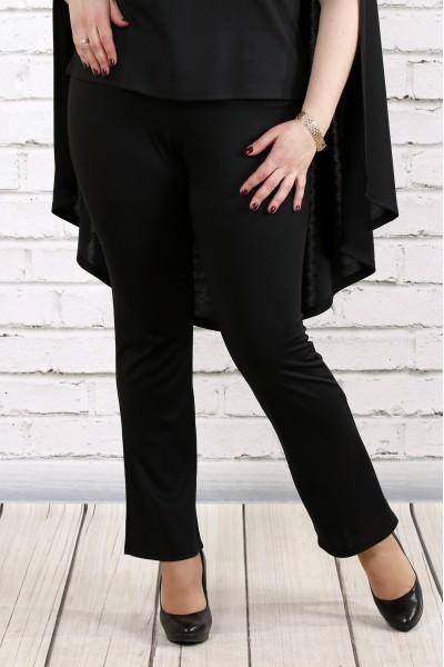 Черные трикотажные брюки | b037-1
