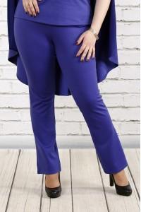 Фиолетовые трикотажные брюки | b037-3