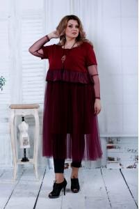 Бордовое платье | 0811-2