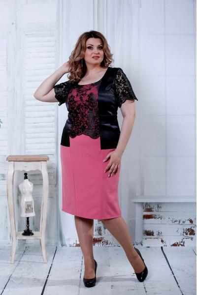 Платье фрезия с черным   0815-2