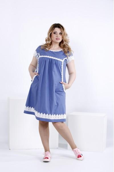 Льняное платье выше колена | 0833-1