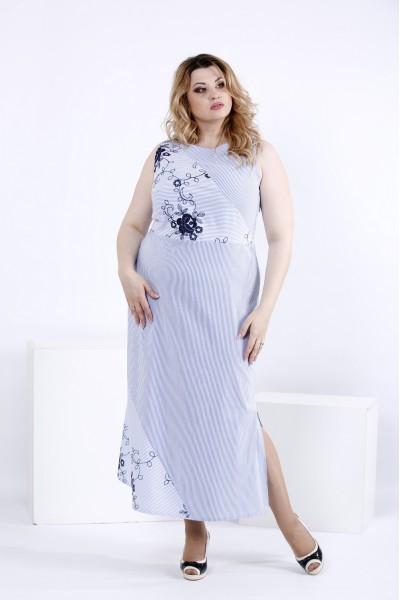 Светлое платье без рукавов | 0834-1 - последний 56р