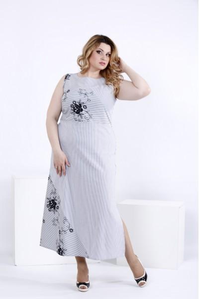 Длинное платье с вышивкой | 0834-2 - последний 56р