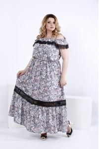 Красивое платье в пол | 0858-1