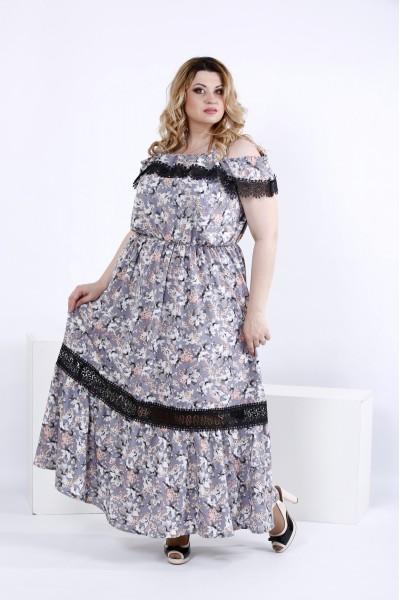 Красивое платье в пол | 0858-1 - последний 56р