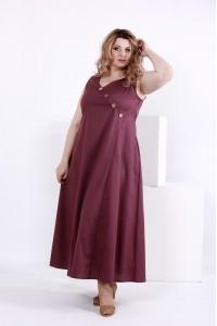 Свободное сливовое платье | 0841-1