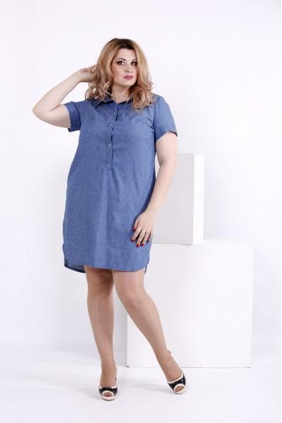 Платье-рубашка принт штрих | 0846-2