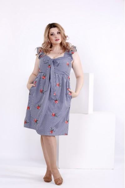 Платье из хлопка с вышивками | 0867-1