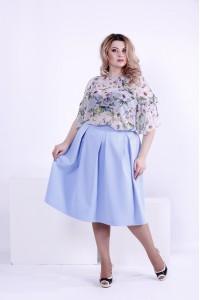 Светлая легкая блузка с цветами | 0868-3