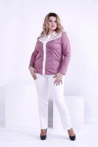 Блузка из коттона бисквитного цвета | 0869-2