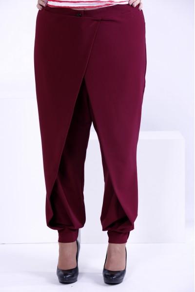 Бордовые свободные брюки | b039-1
