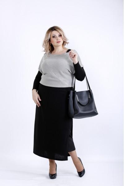 0886-2 | Платье серого цвета
