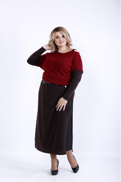 0886-4 | Бордовое платье