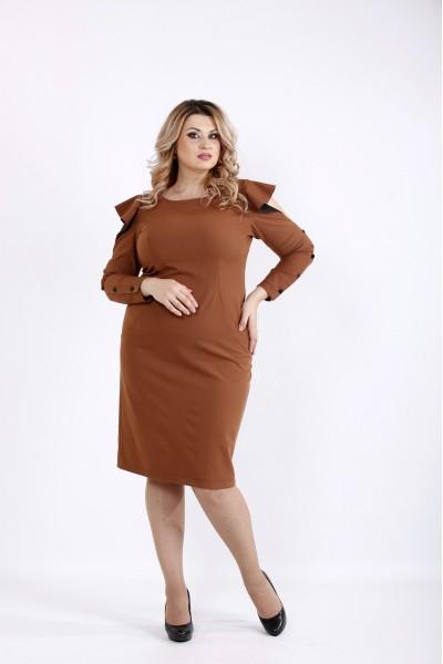Платье виски с длинным рукавом и открытыми плечами | 0910-2