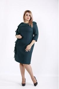 Красивое элегантное зеленое платье | 0930-3
