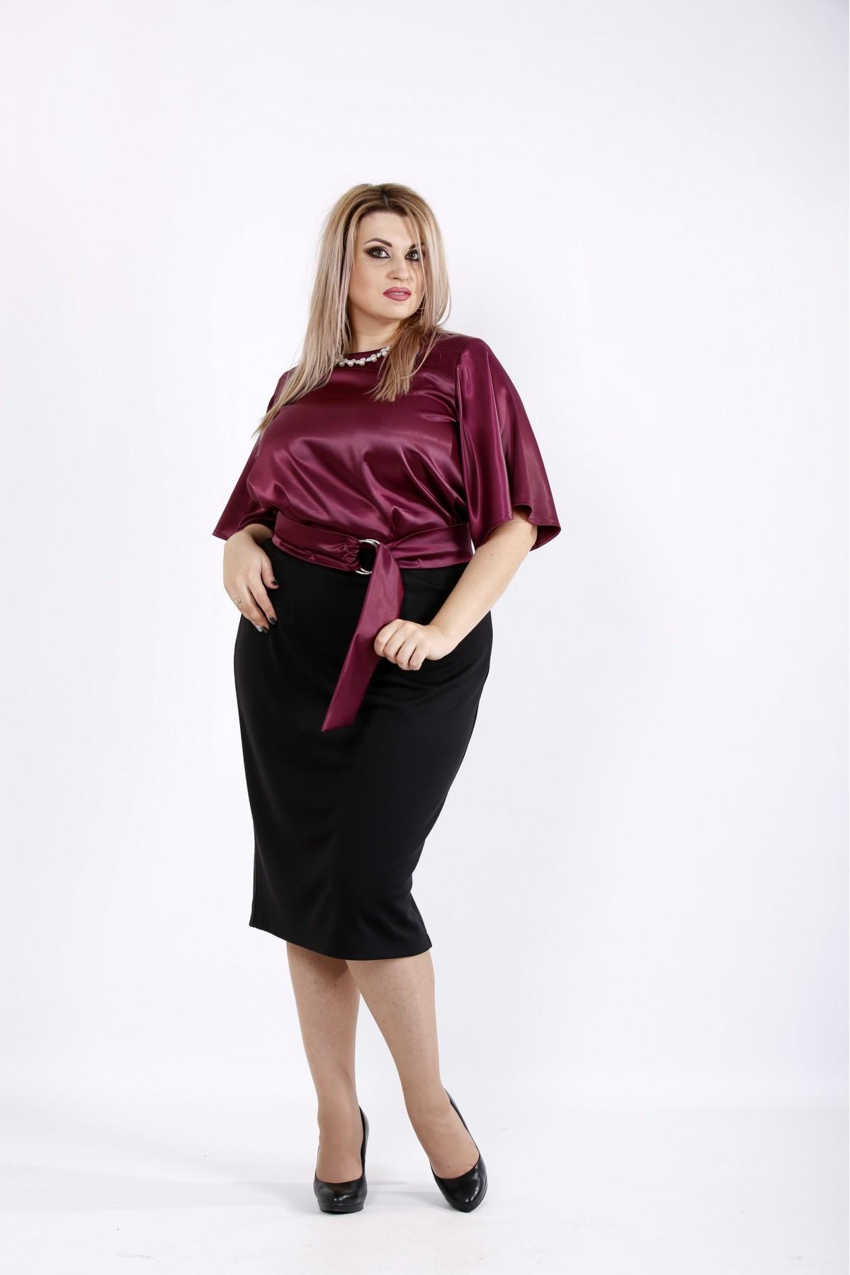 Бордовое платье   0934-3