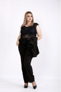 Черный костюм из трех элементов | 0948-2