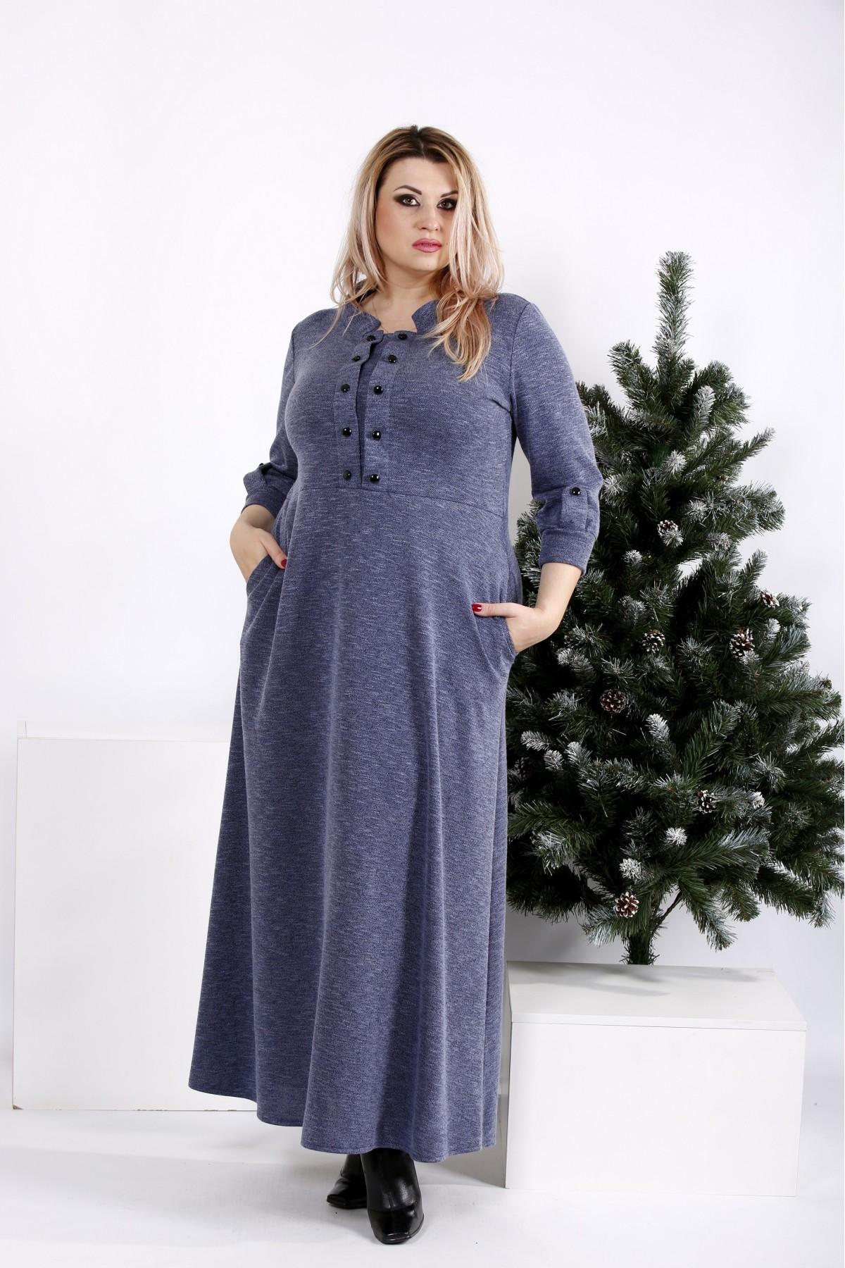 0964-2 | Макси платье, скрывающее фигуру