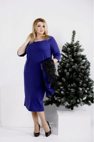 0977-1 | Фиолетовый костюм: платье и кардиган