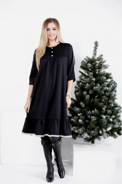 0987-1   Черное платье