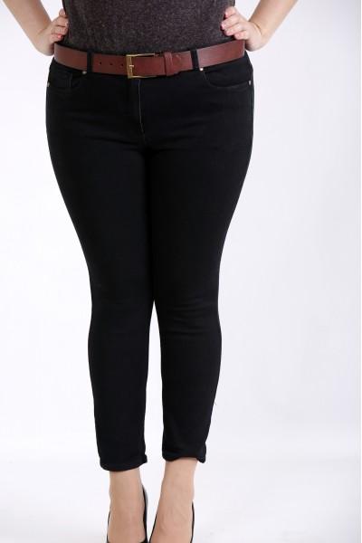 j043-3 | Черные стрейчевые джинсы (без ремня)