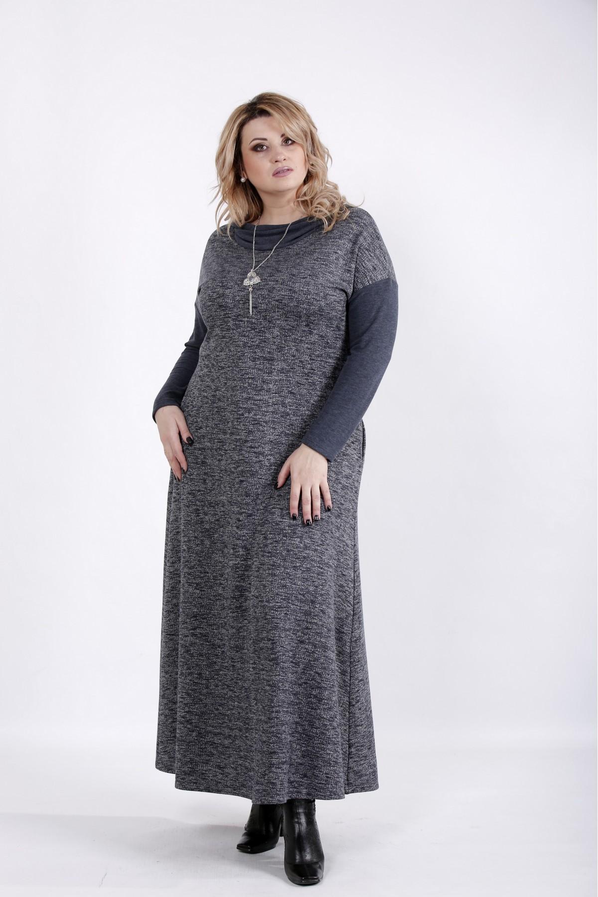 01027-2 | Платье в пол темный джинс