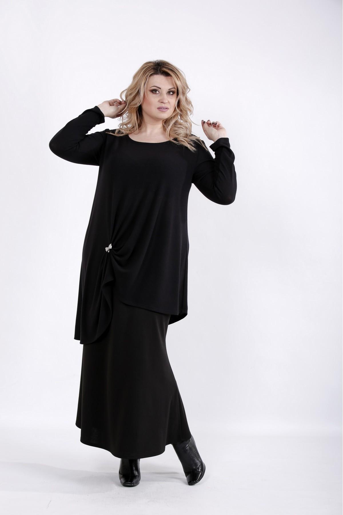 01031-1 | Черная свободная блузка