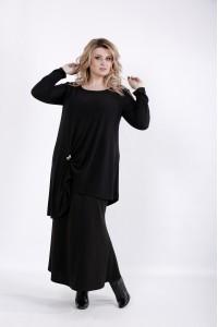 01031-1   Черная свободная блузка