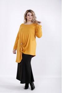01031-2 | Нарядная блузка горчица