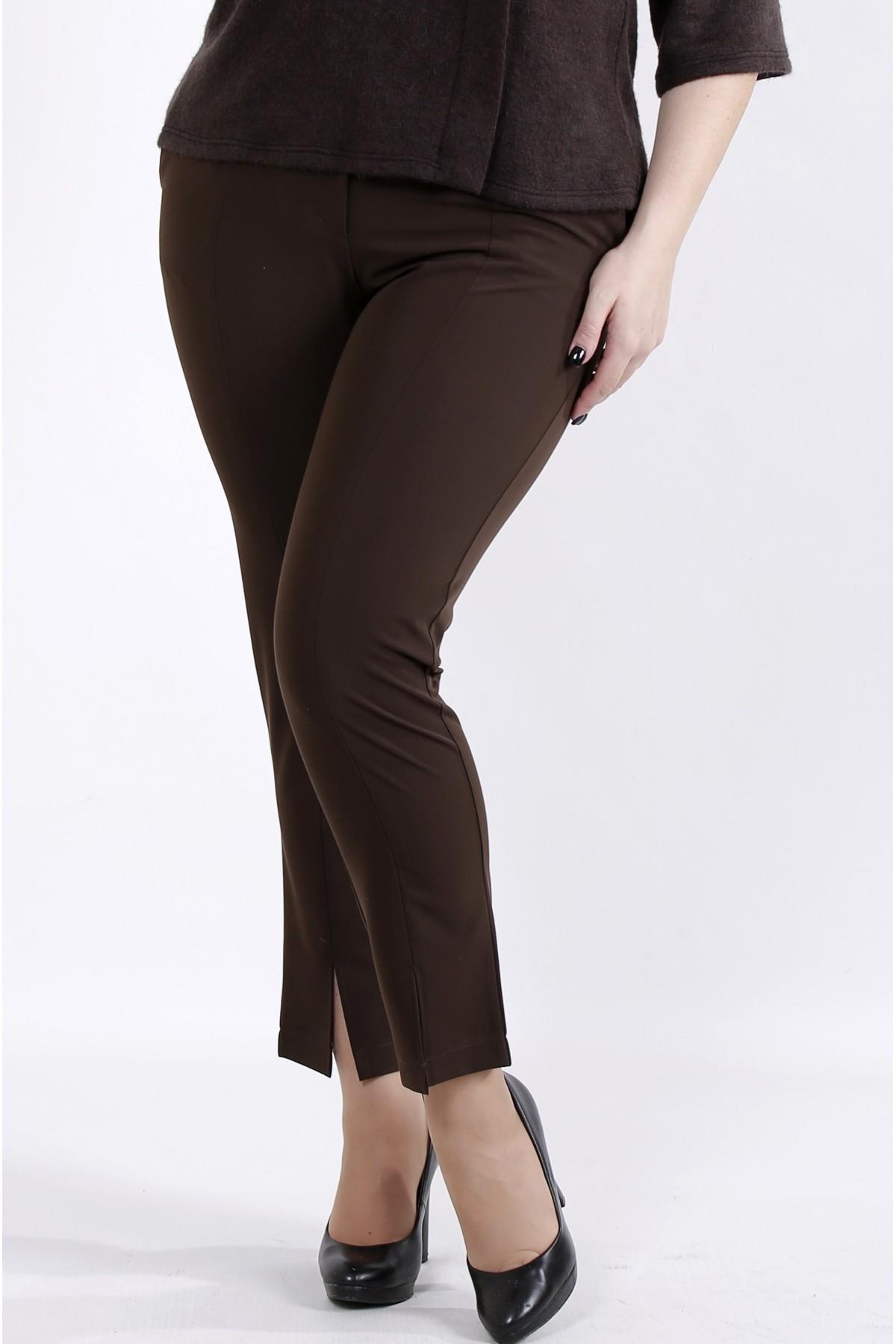 b045-3 | Шоколадные брюки из вискозы