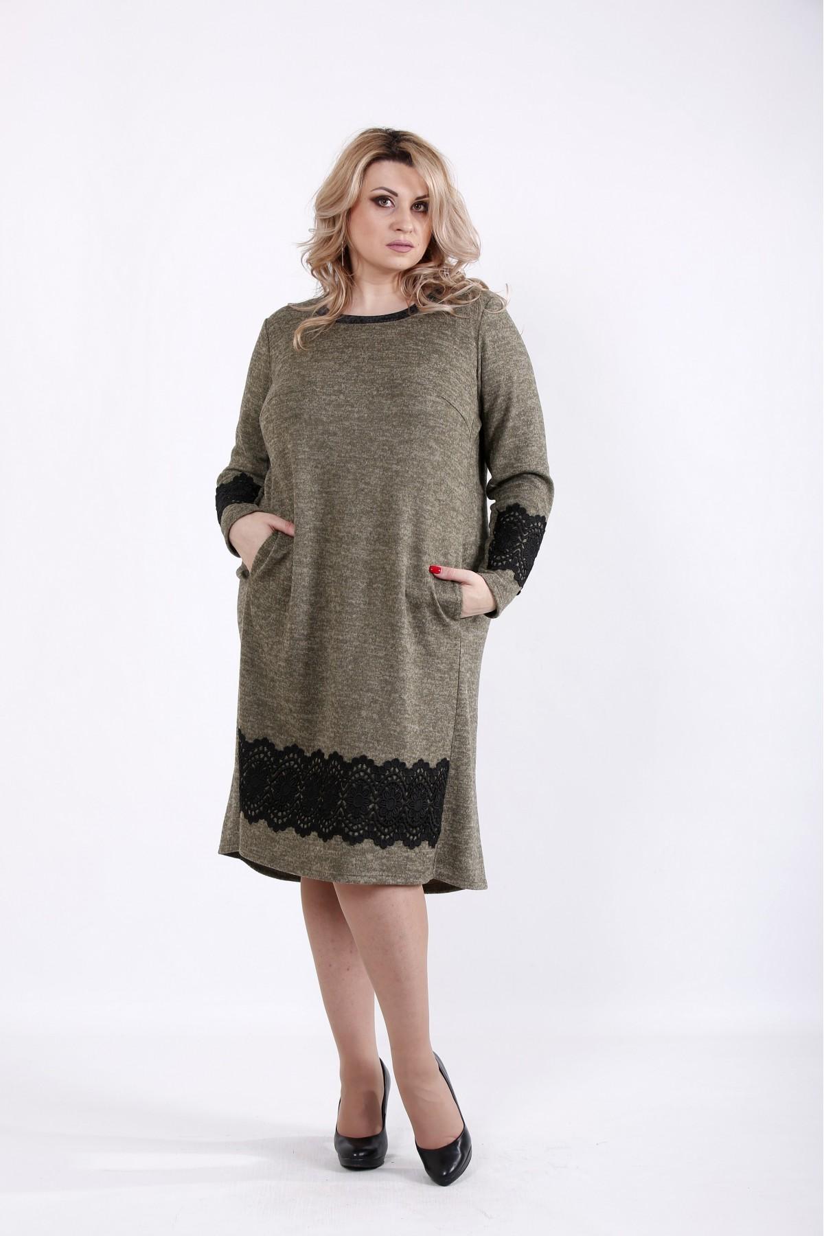 01048-2 | Горчичное платье миди