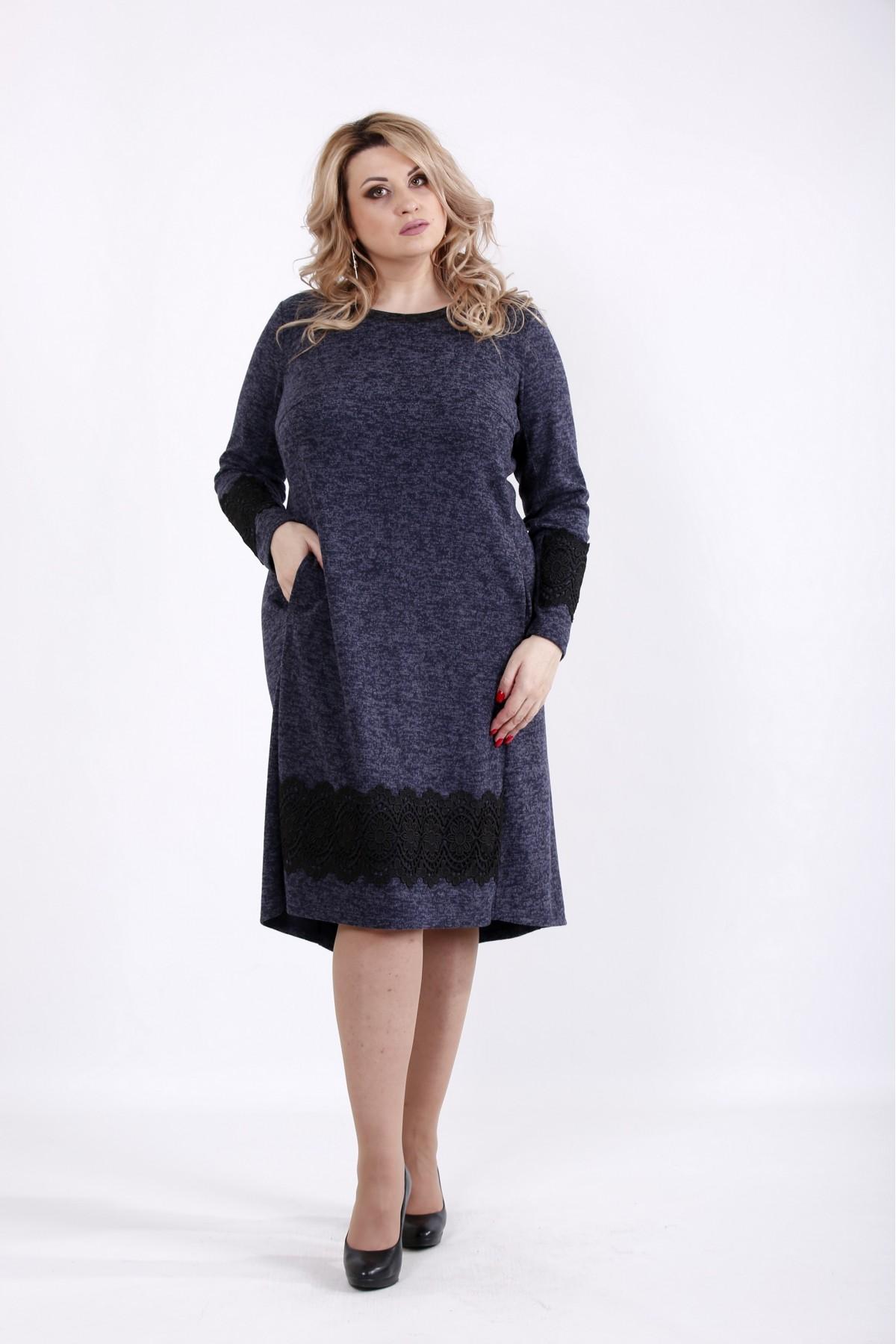 01048-3 | Миди платье синего цвета