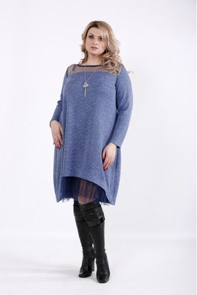 01051-2 | Платье из ангоры люрикс с сеткой