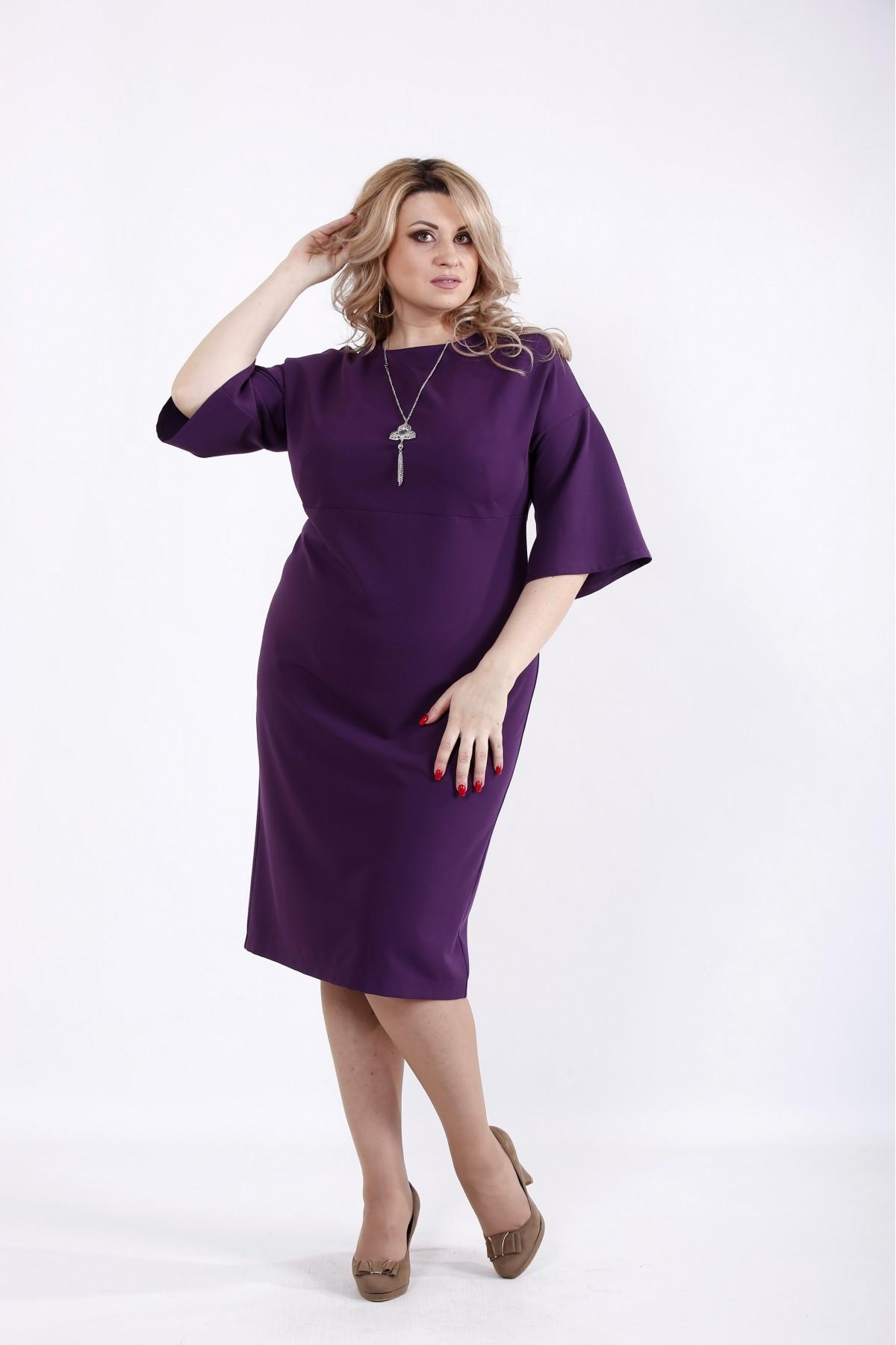 01061-3 | Баклажанное платье до колена