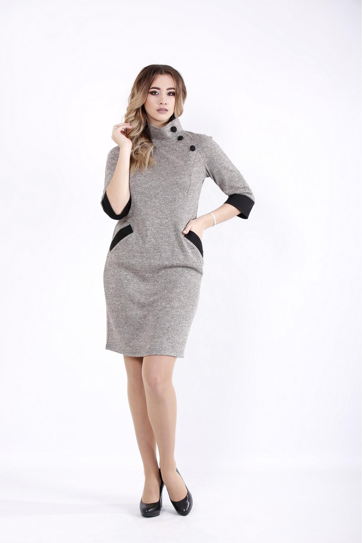 01062-2 | Пудровое платье с карманами