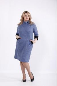 01062-3 | Платье джинс из ангоры с карманами