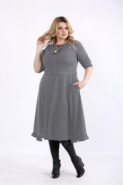 01085-3 | Платье гусиная лапка с юбкой