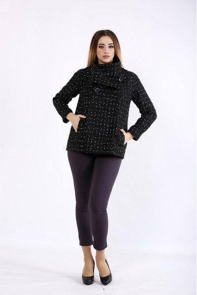 t01089-1 | Черное пальто с точкой