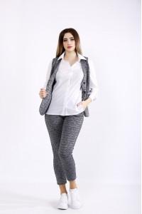 01102-2 | Темно-серый трикотажный костюм (блузка 01115-1 отдельно)
