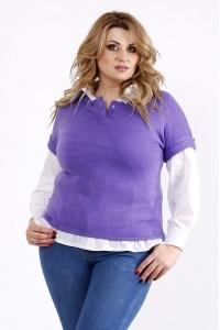 01106-1 | Фиолетовая блузка из ангоры (на рубашке 01115-1 - отдельно)