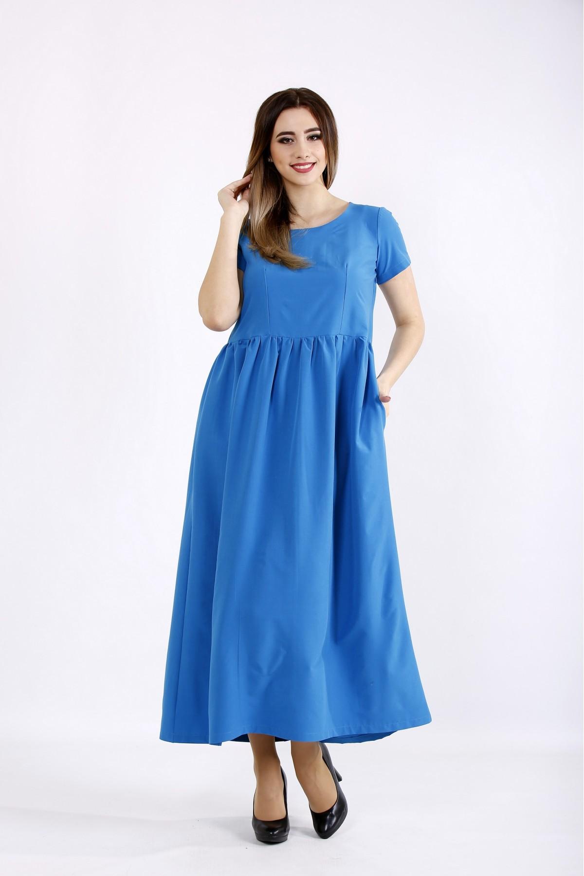 01110-1 | Голубое платье в пол