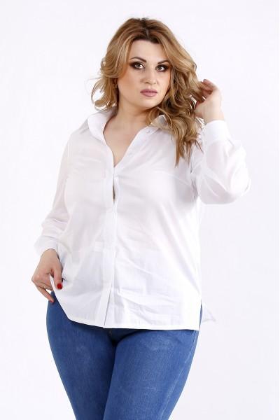 01115-1 | Белая универсальная блузка-рубашка