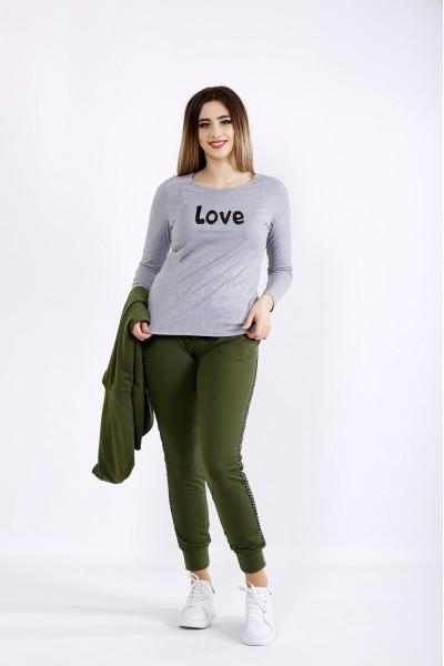 0999-7 | Серая футболка с длинным рукавом