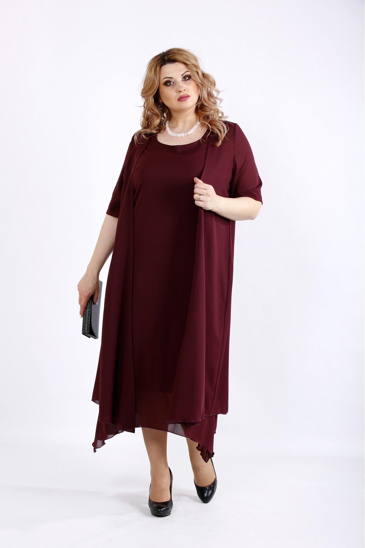 01119-2 | Костюм из креп шифона: платье и накидка